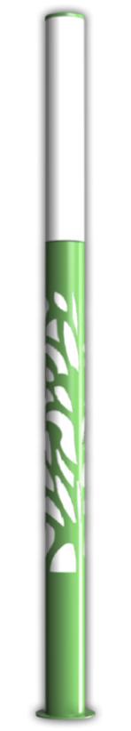 Colonne led décorative vert