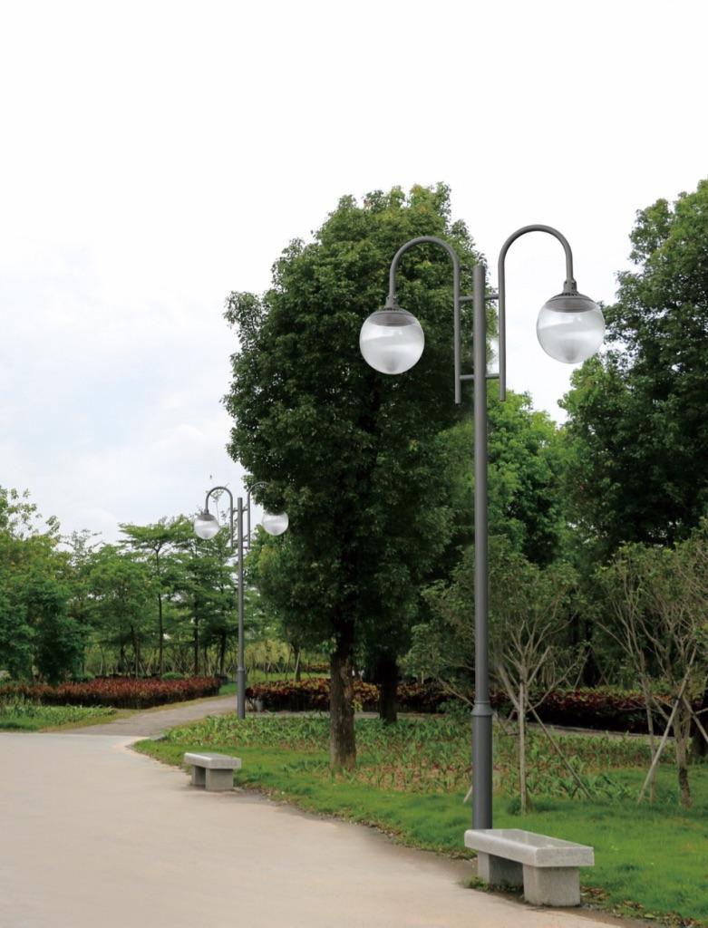 Eclairage led jardin public